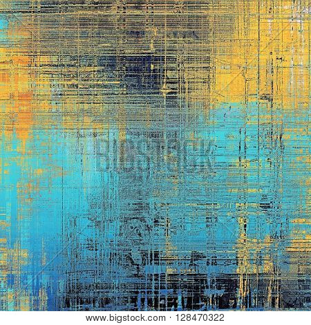 Colorful grunge background, tinted vintage style texture. With different color patterns: yellow (beige); brown; blue; black; cyan