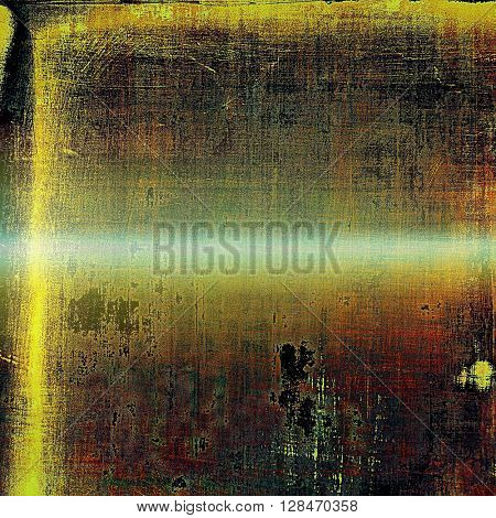 Antique texture, weathered background with vintage look and different color patterns: yellow (beige); brown; green; red (orange); black