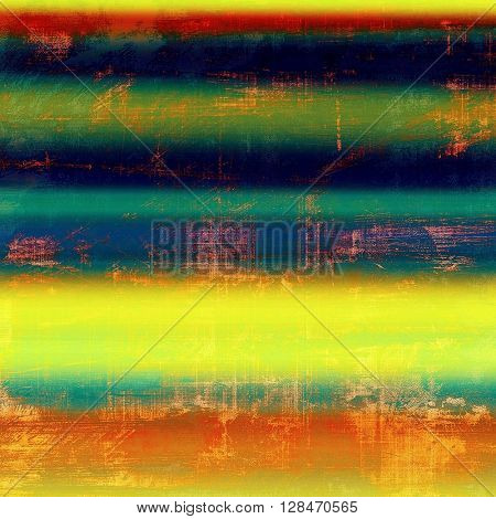 Antique texture, weathered background with vintage look and different color patterns: yellow (beige); green; blue; red (orange); purple (violet)