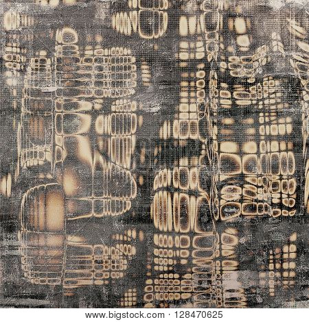 Antique texture, weathered background with vintage look and different color patterns: yellow (beige); brown; gray; black