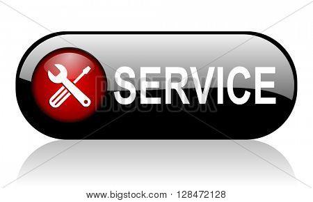 service long black glossy banner 3D illustration