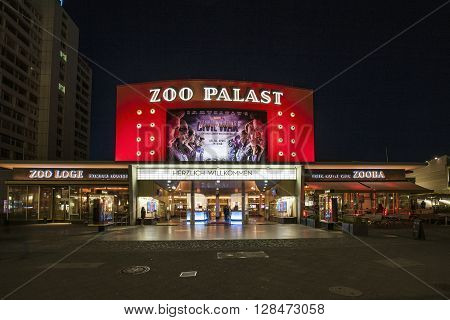The Premiere Cinema Zoo Palast In Berlin By Night