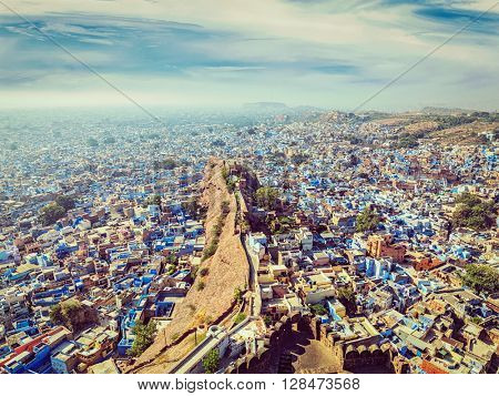 Vintage retro effect filtered hipster style image of Jodhpur, also known as