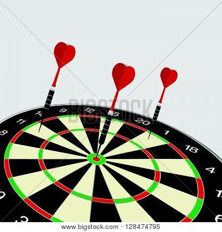 dartboard icon illustration in colorful on white