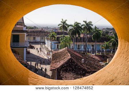 Trinidads placa central seems like traveling back in time to the Caribbean of colonial times - Trinidad, CUBA in December 2015