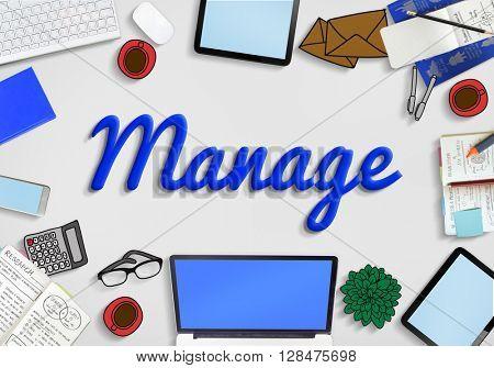 Manage Development Organization Controlling Concept