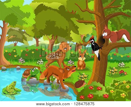forest animals and friendship