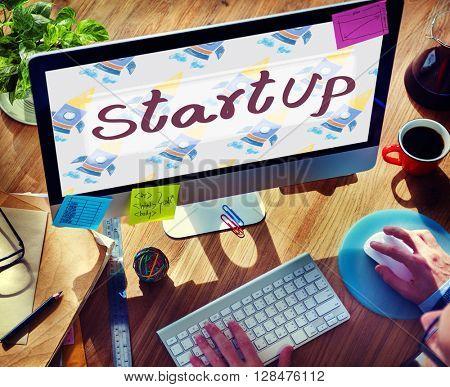Start Up Launch Business Strategy Development Concept