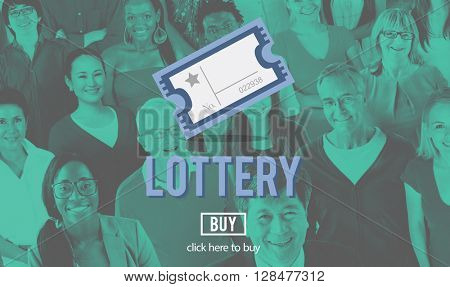 Lottery Chance Gambling Lucky Risk Game Concept