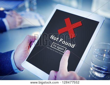 Not Found Error Data Internet Online Technology Concept