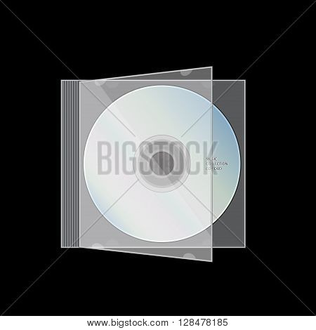 CD DVD CD Inside Case vector illustration