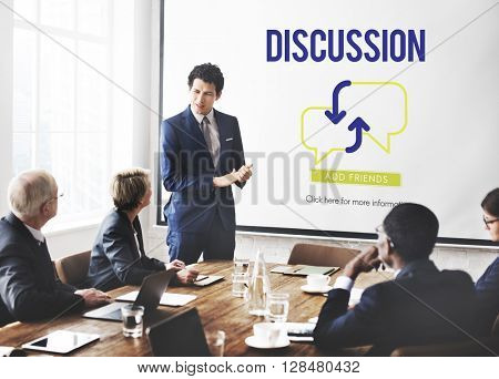 Discussion Talking Meeting Communication Concept