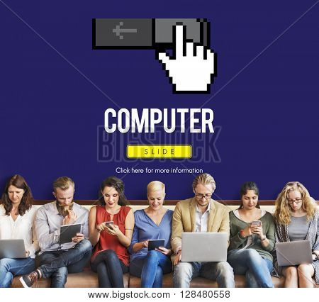 Information Technology Computer System Concept