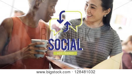 Social Network Meeting Communication Concept