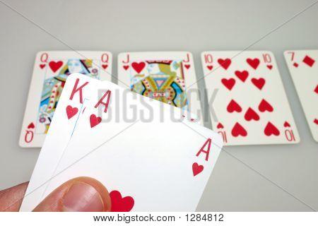 Holding A Texas Hold'Em Royal Flush