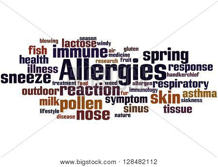 Allergies, Word Cloud Concept 10