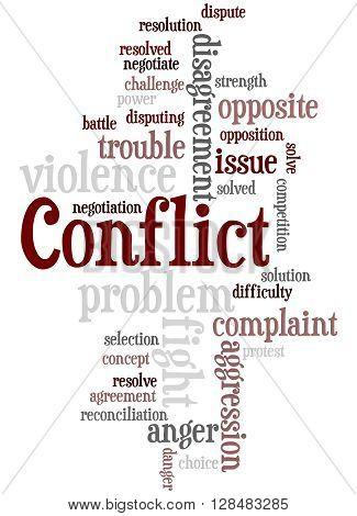 Conflict, Word Cloud Concept 8