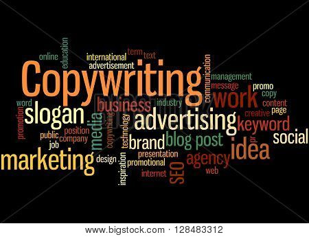 Copywriting, Word Cloud Concept 3