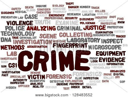 Crime, Word Cloud Concept 9