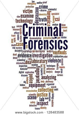 Criminal Forensics, Word Cloud Concept 3