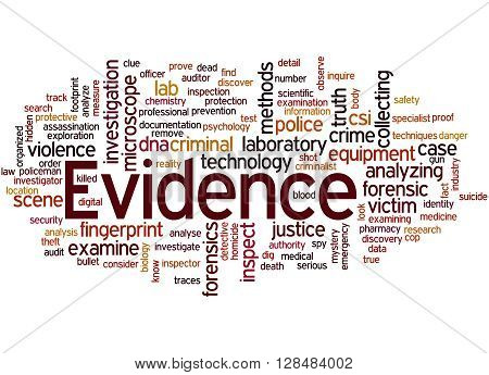 Evidence, Word Cloud Concept