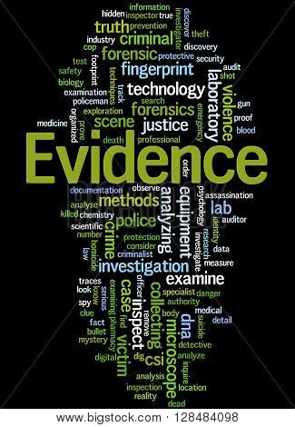 Evidence, Word Cloud Concept 5