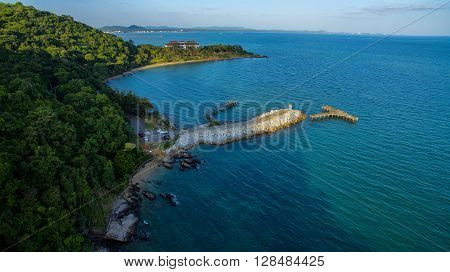 Aerial View Of Khaolaemya And Samed Island National Park Important Traveling Destination In Rayong P