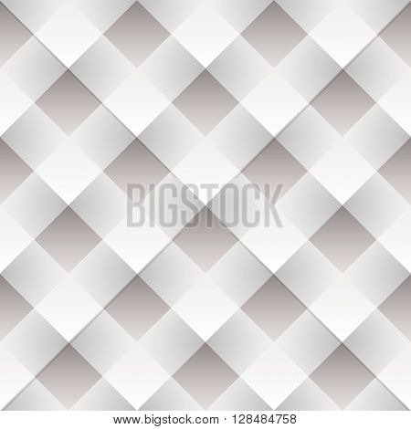 White seamless tile background with woven paper mosaic