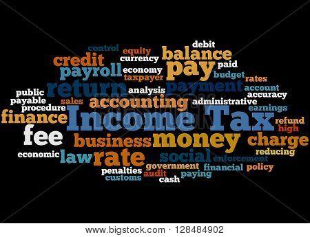 Income Tax, Word Cloud Concept 4