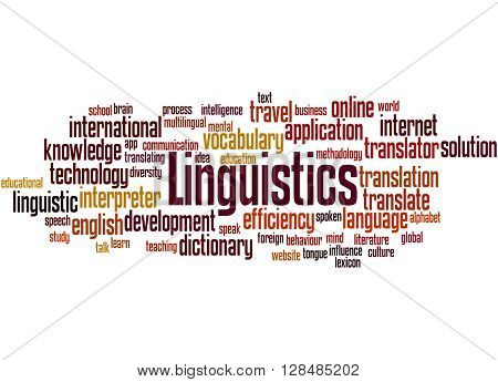 Linguistics, Word Cloud Concept