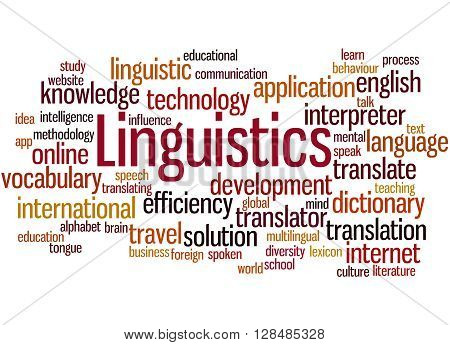 Linguistics, Word Cloud Concept 8