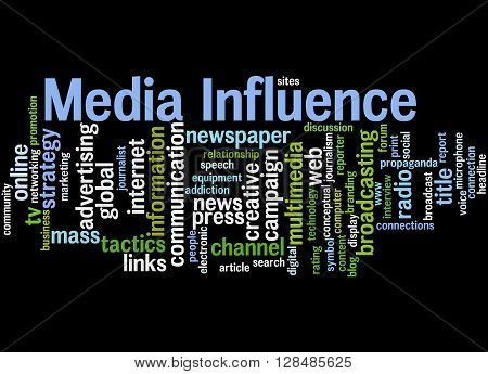 Media Influence, Word Cloud Concept 5