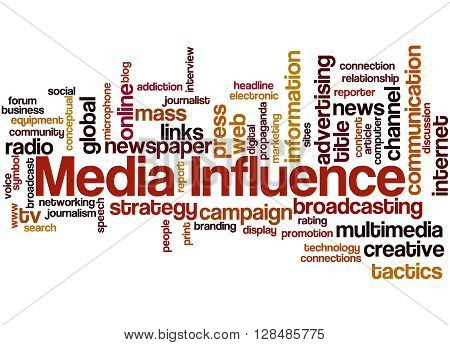 Media Influence, Word Cloud Concept 9