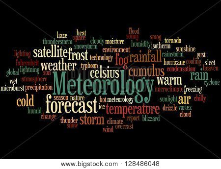 Meteorology, Word Cloud Concept 4