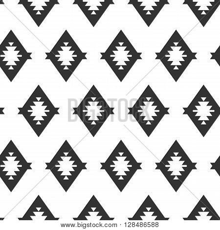 Tribal diamond style seamless pattern. Tribal ornament for poster, banner, invitation,  brochure, flyer, notes. Vector illustration