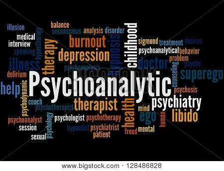 Psychoanalytic, Word Cloud Concept 3
