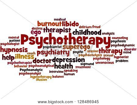 Psychotherapy, Word Cloud Concept 6