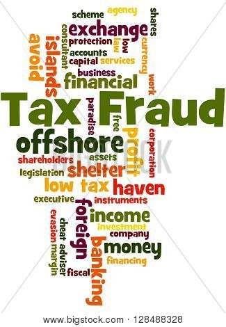 Tax Fraud, Word Cloud Concept