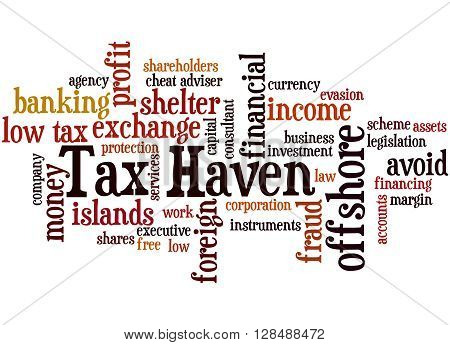 Tax Haven, Word Cloud Concept 7