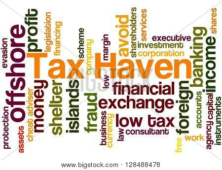 Tax Haven, Word Cloud Concept 8