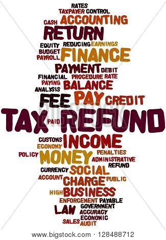Tax Refund, Word Cloud Concept 9