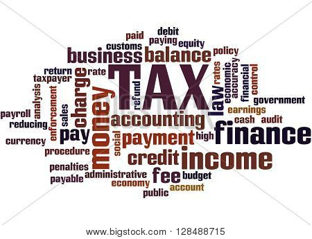 Tax, Word Cloud Concept