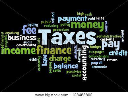 Taxes, Word Cloud Concept 4