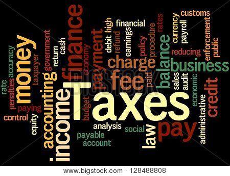 Taxes, Word Cloud Concept 5