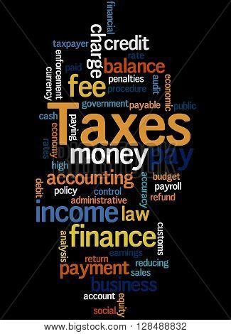Taxes, Word Cloud Concept 8