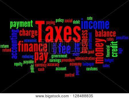 Taxes, Word Cloud Concept 9
