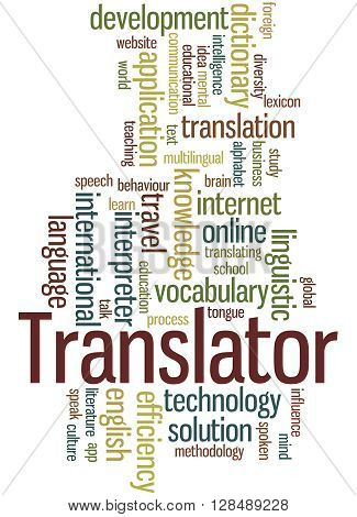 Translator, Word Cloud Concept 2