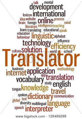 Translator, Word Cloud Concept 7
