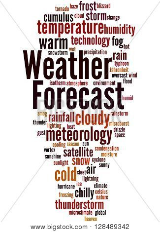 Weather Forecast, Word Cloud Concept 3
