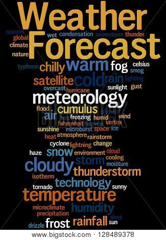 Weather Forecast, Word Cloud Concept 6